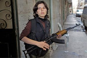 Kurdish Woman beating the hell out of ISIS – The revolution in Rojava