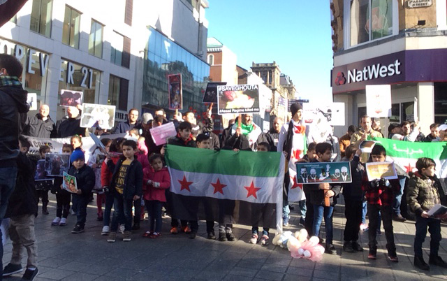 Syrian demonstration for Ghouta