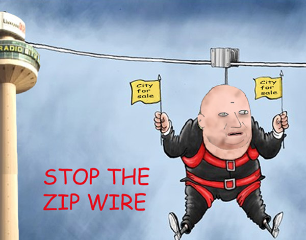 Liverpool's zip wire folly