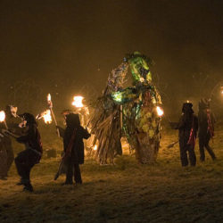 The Green Man dances